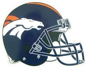"Denver Broncos 12"""" Helmet Car Magnet"