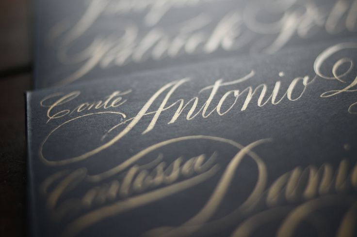 #calligraphy #invitation #handwritten #goldink #ink