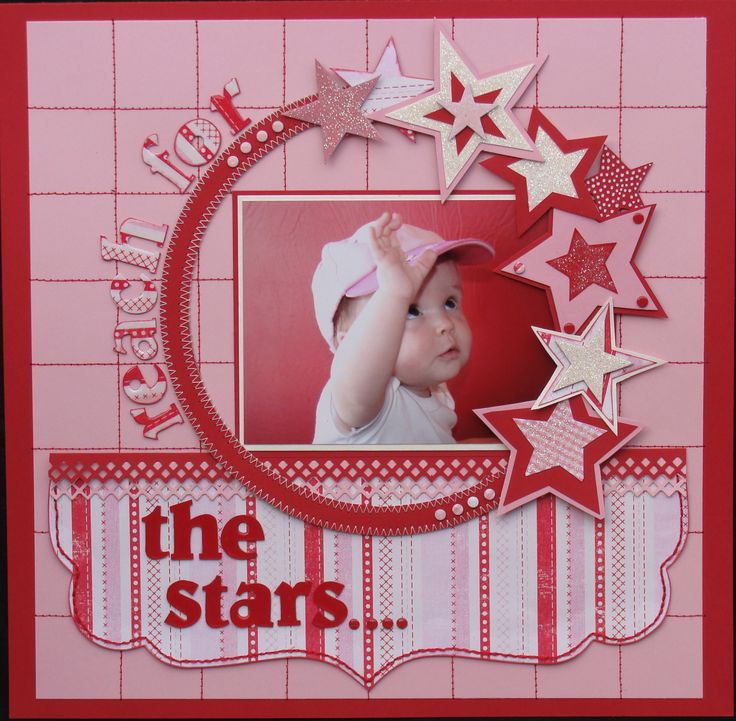 Reach for the stars - Scrapbook.comScrapbook Ideas, Fairies Dust, Boys Layout, Reach, Start Don, Scrapbook Photos, Ballet Scrapbook Layout, Scrapbook Pages, Single Layout
