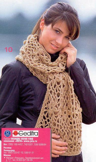 Patrones Crochet, Manualidades y Reciclado: 16 BUFANDAS MODELOS PARA TEJER A CROCHET CON PATRO...