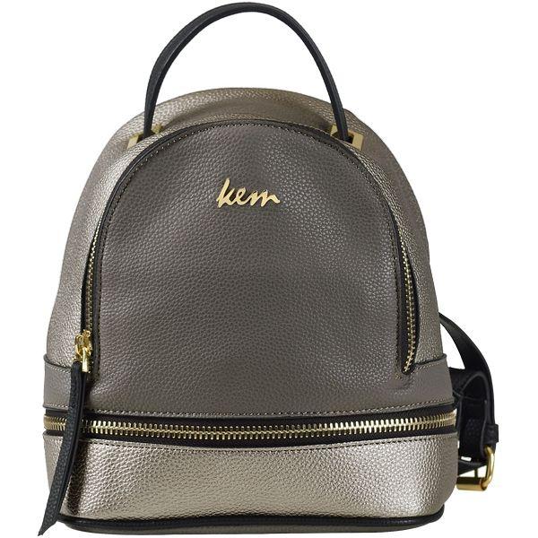 1d6f10475dd Kem backpack metallic grey-silver Kem τσάντα πλάτης metallic γκρι ...