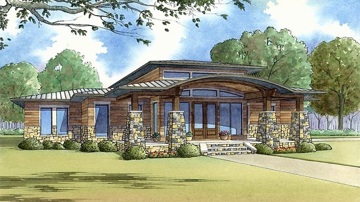 House Plan 82413, Order Code PT101 | Contemporary Prairie Style Southwest Plan with 2272 Sq. Ft., 3 Bedrooms, 3 Bathroom
