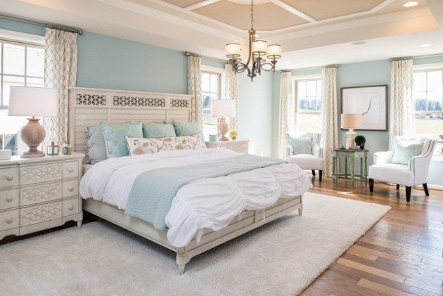 Another way to arrange furniture in the oversized master bedroom.