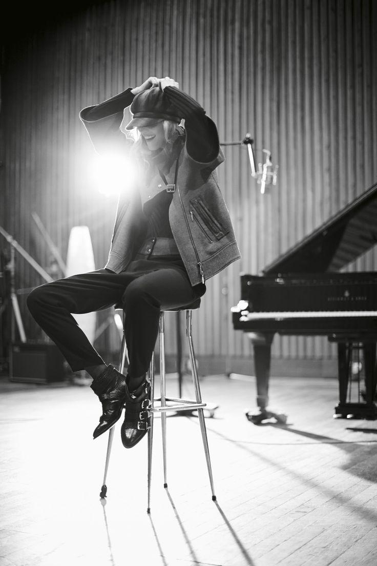 Photo Eric Matheron Balay, Fashion Editor Guylaine Tilleau, Make Up  Hair Magali Piloux #laurenvidal #KatharinaLinke #musik #piano #sing #record #micro #guitare #fashion #inspiration #relaxing #studioferber