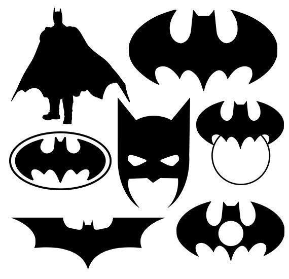 Batman svg silhouette pack - Batman clipart digital download - Batman monogram frame svg, png, dxf, eps