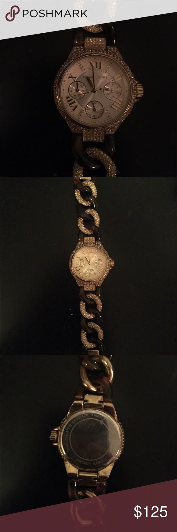 Michael Kors Tortoise Watch Perfect condition! Make me an offer:) Michael Kors Accessories Watches