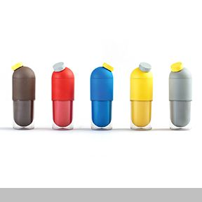 Public Capsule is a water bottle made of biodegradable plastic derived from corn starch and coffee grounds. This product is also associated with a campaign for Africa. Even now Malaria kills an African child every 30 seconds. For each purchase of Public Capsule, antimalaria pills will be provided to those in need.  Designed by Jun Seo Lee of ecojun company Contact: Jun-Seo Lee - earth365@ecojun.com