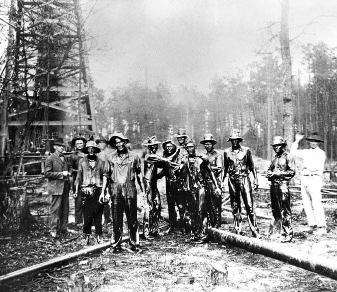 Oil field workers at Smackover, Arkansas about 1922