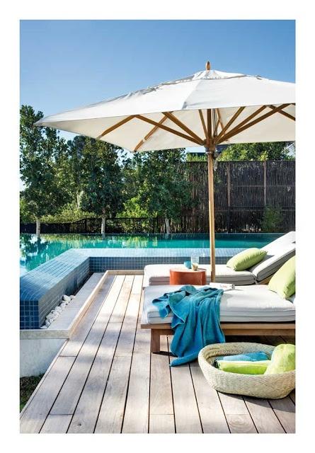 Achados de Decoração, blog de decoração, loja virtual de decoração, boutique de achados: Outdoor Living, Exterior, Poolside Relaxing, Poolside Relaxation, Photo, Modern Homes