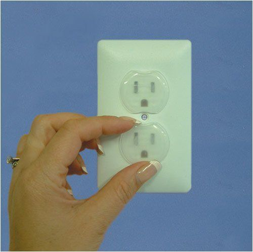 Child Safety Outlet Plugs - 24 Pack by The Storage Store. $3.99. Protect from electric shock. Color: ClearSize: Fits any standard outlet. Easy for adults to insert and remove. Durable plastic construction. These Outlet Plugs by Dream Baby help you to avoid the risk of harmful electric shock. A must have all around the home, these plugs will lessen the chance of household tragedies by preventing young children from inserting foreign objects into live outlets. The plugs ins...
