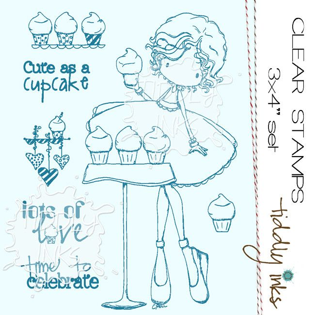 "Tiddly Inks """"Cute As A Cupcake"""" Clear Stamp"