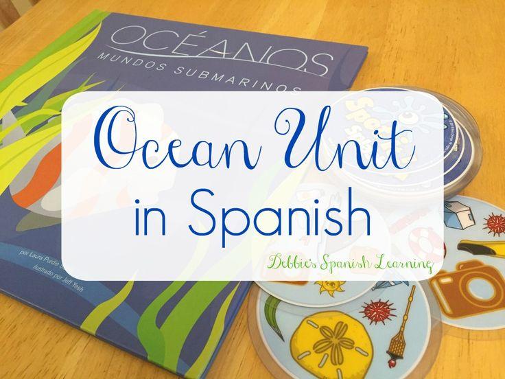 Ocean Unit Study in Spanish
