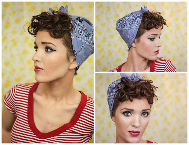 Bandana Hair Style: The Freckled Fox : Sweetheart Hair Week: Tutorial #6