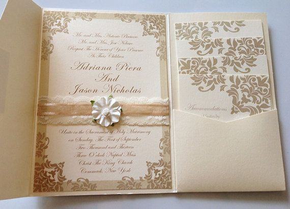97 best my wedding designs images on pinterest wedding designs laceribbon floral damask wedding invitations with pocketfold christimariecreative stopboris Choice Image