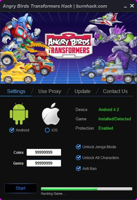 Angry Birds Transformers Hack Unlimited Coins Android/iOS  http://burnhack.com/angry-birds-transformers-hack-unlimited-coins-androidios/