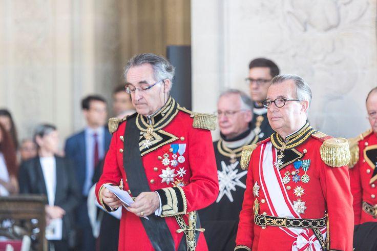 S.E le Prince de La Rochefoucauld-Montbel, Grand Hospitalier de l'Ordre de Malte à Rome, et S.E le Comte de Beaumont-Beynac, Président de l'Association française de l'Ordre de Malte.
