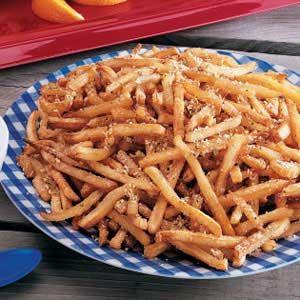 Seasoned Fries  2 t Ital Seas, 1/2 t Salt, 1/2 C Parm Sprinkle on halfway through baking