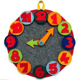 Keçe, saat, keçeden saat, felt clock. Felt