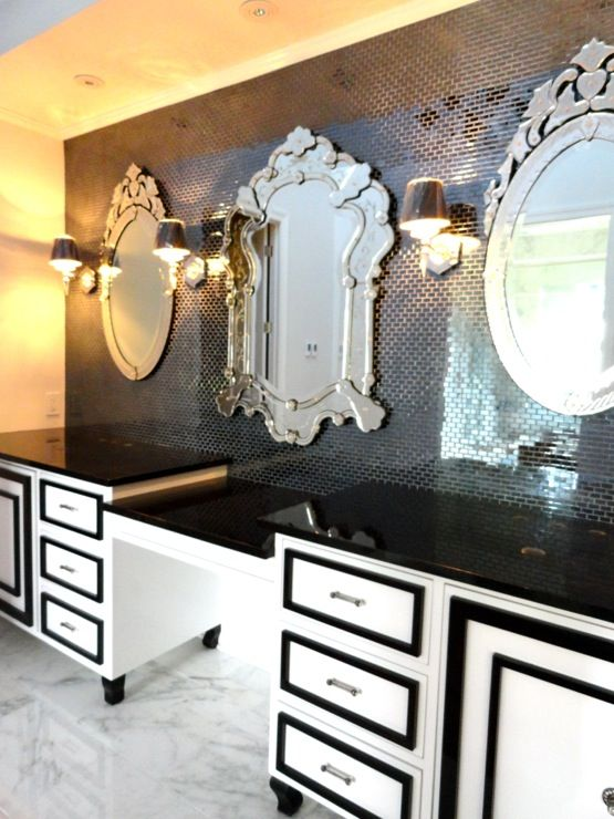 201 Best Black And White Decor Images On Pinterest Bathroom Bathrooms And Bedrooms
