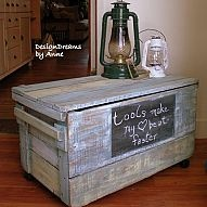Transform an old wooden shipping crate