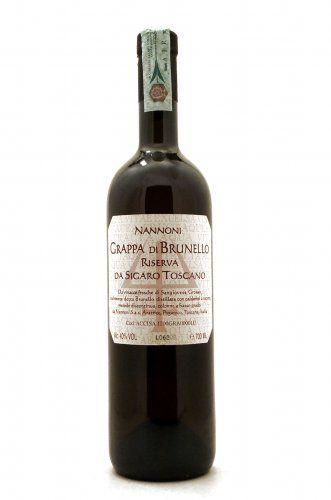 Grappa di Brunello da Sigaro Toscano Distilleria Nannoni