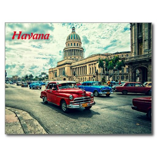 Foto vieja del Caribe del coche de La Habana Cuba. #tarjeta #postal #postcard
