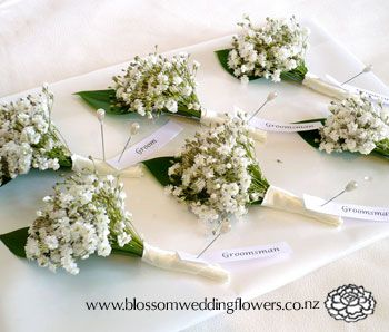 Auckland and North Shore wedding flowers. Buttonholes and corsages in a price range to suit your budget