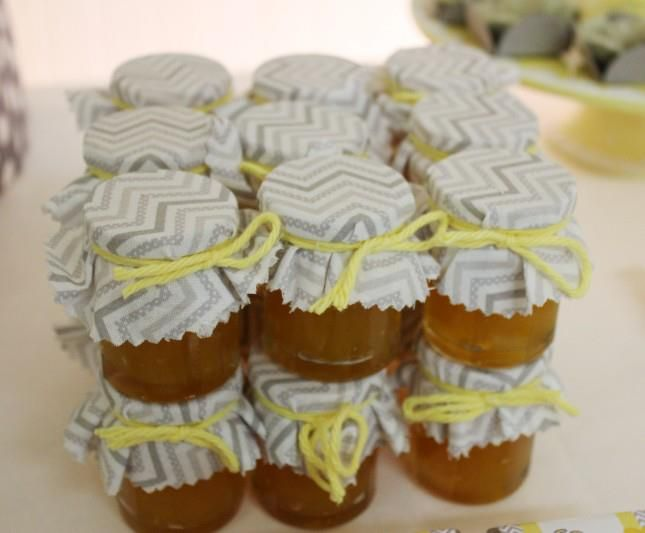Yellow Gray Chevron Baby Shower Ideas Elephant Theme