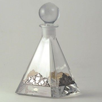 Crystal bottle and sterling silver