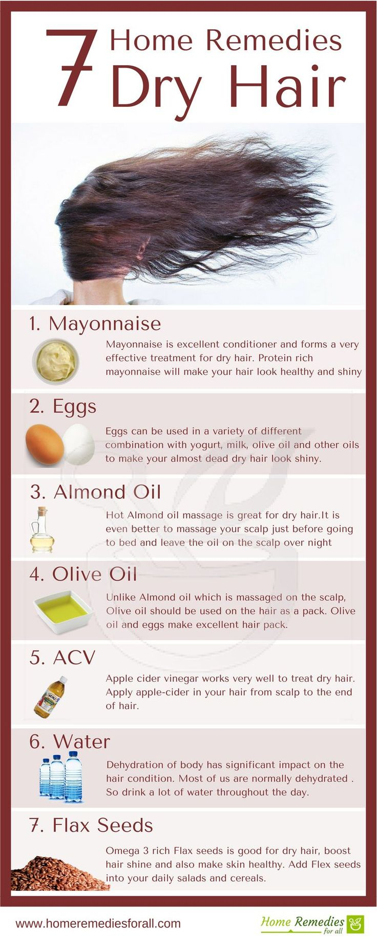 These 7 home remedies for dry hair will make your hair healthy, glossy and shiny in a very short time.