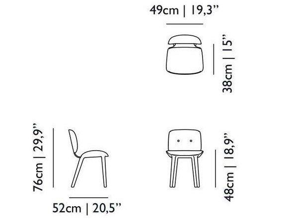 Cadeira estofada NUT DINING CHAIR by Moooi© design Marcel Wanders
