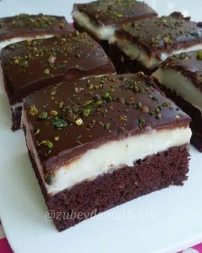 Kilo alsakta tatlilardan vazgemiyoruz Daha once paylastigim ciklatali serbetli tatli. Olculeri bu kez biraz degistirdim. Serbetli ama agir olmayan bir tatli. Keke koydugum seker oranini yarim olcu ekliyorum kalan olcu serbet oluyor. O sebeple agir olmuyor. Hafif nemli cikolatali ve harika kremasiyla enfes bir pasta oluyorDenemeyen kalmasin. Benden soylemesi Ayarlanabilir dikdortgen kelepceli kalibi @pastamalzemeleriankarapastacim sayfasinda bulabilirsiniz ➖➖➖➖➖➖➖➖➖➖➖➖➖ ŞERBETLİ ÇİKOLA...