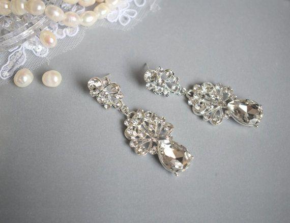 Drop Dangle Earring Chandelier Earring Wedding by Mkedesignwedding