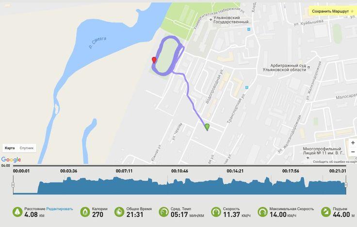 Вчерашняя пробежка, чего то далась трудновато. Хотя в прошлый раз в среду пробежала 4 км легко, а тут 3 с трудом. После бега сделала тренировку на большие группы мышц(далось легко). Бывает и такое - это может зависеть от множества факторов - природные условия, не доели, не доспали, стрессанули и усе. #run#micoach#разбудирайон#разбудирайон73#Ульяновск#уличныетренировки#workoutteam73 #veranazemnova @fitself