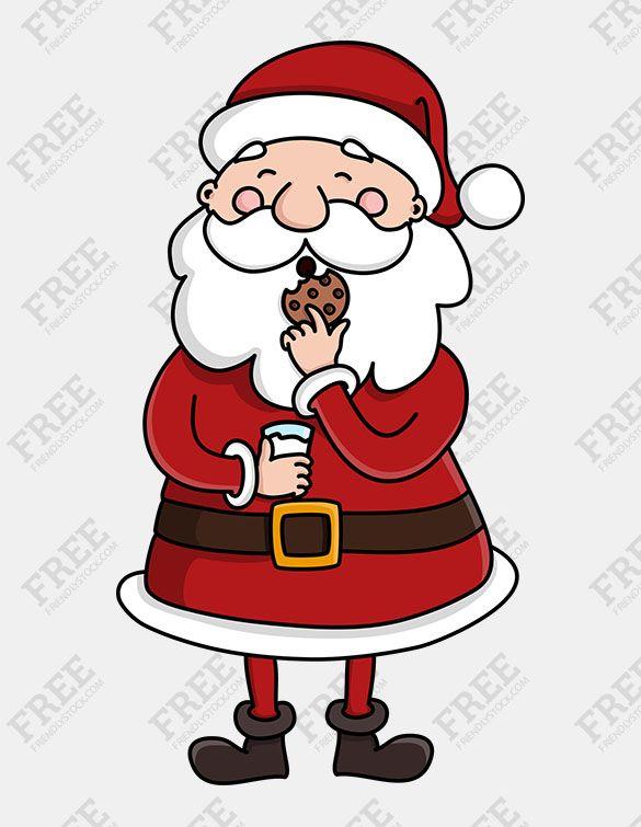 Free Graphics Cute Santa Claus Character Friendlystock Santa Cartoon Free Graphics Free Vector Illustration
