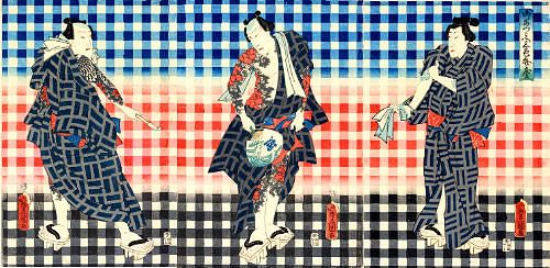 Utagawa Toyokuni/御あつらへ 三色弁慶