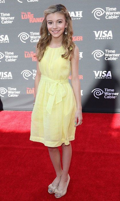 G. Hannelius at the premiere of The Lone Ranger....