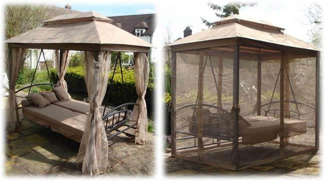 1 x Gazebo Swing Bed with specially Designed Canopy's to keep the Air Flow Through. Our wicker furniture are made from the highest quality PE Rattan Wicker, which will not crack or fade like other traditional wicker furniture. | eBay!