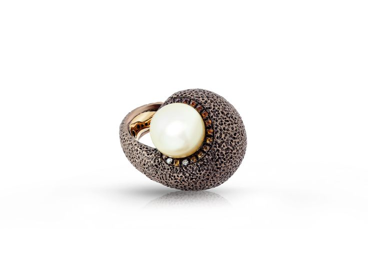 Anello argento marrone, anello oro,anello diamanti, anello zaffiri, anello opale di fuoco, anello regalo, anello per lei,anello,argento di Modellart su Etsy