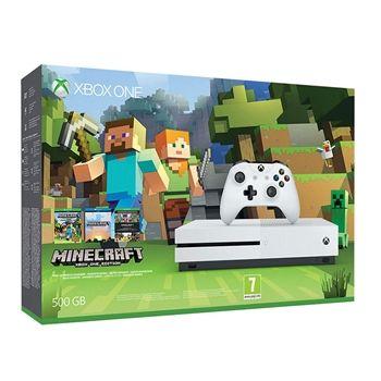 MicrosoftΚονσόλα Xbox One S 500GB & Minecraft Favorites Bundle