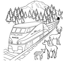 train coloring pages amtrak train - photo#4