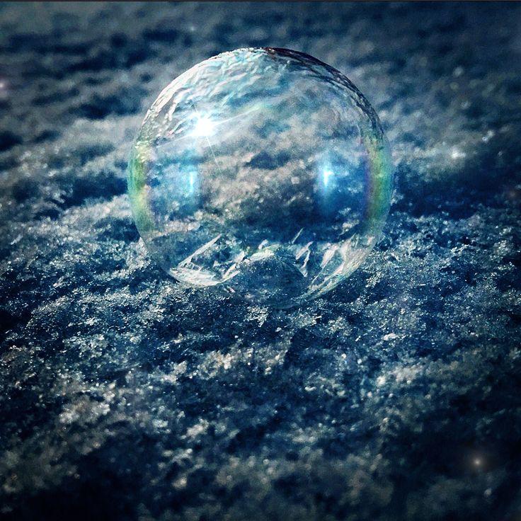 Frozen soap bubble ❤️