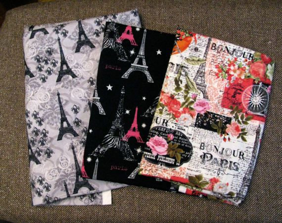 Paris Themed Fabric Remnants 3.5 Yards by IckyChicDesigns on Etsy