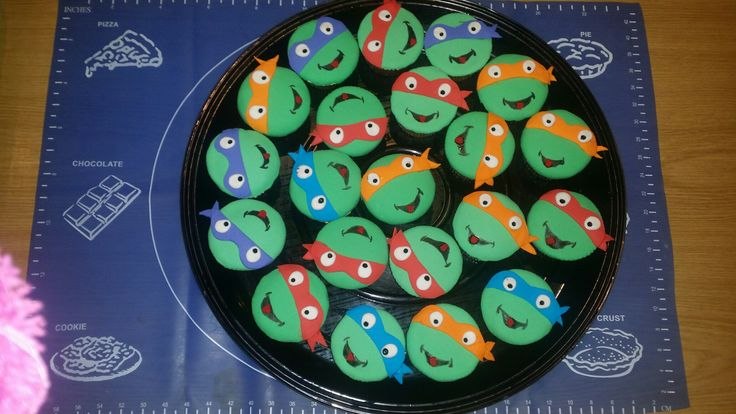 TMNT cup cakes
