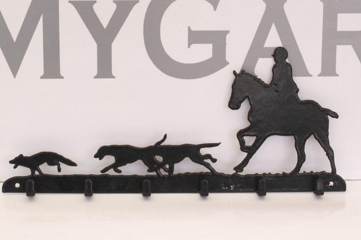 Jacht met Paard en honden Sleutelrek 6 haakjes