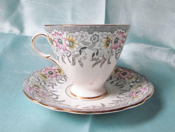 1950s Vintage English Bone China Tea Cup and by TeaCupsFromSharon