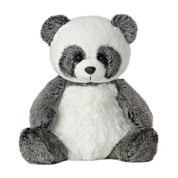 Ping the Sweet and Softer Panda Stuffed Animal by Aurora at Stuffed... ($13) ❤ liked on Polyvore featuring stuffed animals, toys, baby, fillers and animals