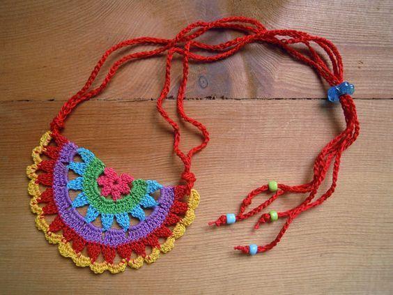 Sunshine Home Decor: Webcharme, Ohrringe, Halsketten, Armbänder – Häkeln, Ohrring, …   – crochet