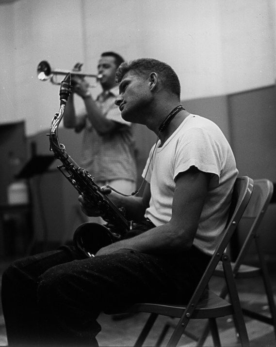Zoot Sims with Stu Williamson in the background