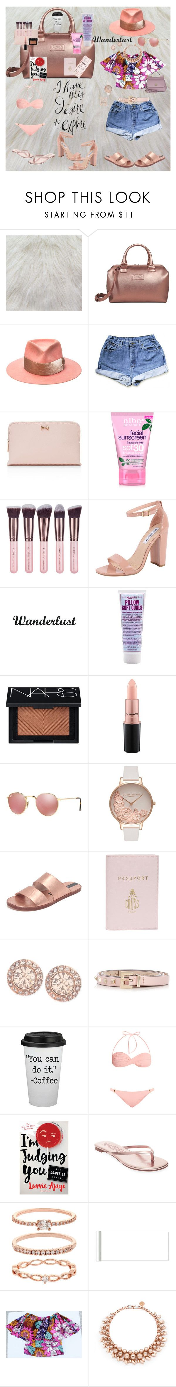"""Ankarage Weekend Getaway"" by ankarage on Polyvore featuring Lipault, Nick Fouquet, Ted Baker, Alba Botanica, Luxie, Steve Madden, Miss Jessie's, NARS Cosmetics, MAC Cosmetics and Ray-Ban"